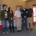 Graduating Boating class - From left to right: Nick Ciccone, Deanna Lander, Harold Ford, Murray Pratt, John Zinszer